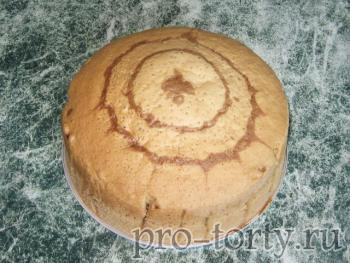 приготовление ванильного бисквита