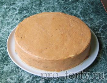 выравнивание торта масляным кремом