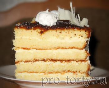 масляный бисквит торт