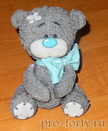 мишка Тедди из мастики фото