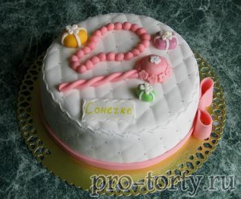 ромбы на торте