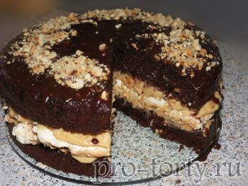 торт сникерс рецепт с фото