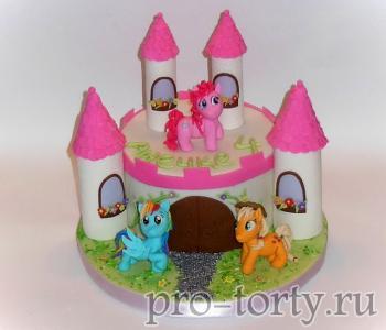 торт замок фото